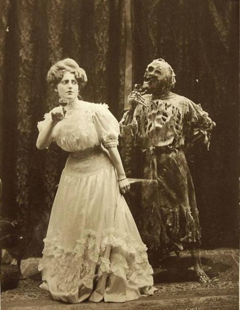 'Death and the Lady' vaudeville performance, 1906 - Photograph by Joseph Hall